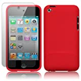 APPLE IPOD TOUCH 4TH GEN RED SLIDER HYBRID CASE / SKIN / SHELL / COVER, WITH SCREEN PROTECTOR PART OF THE QUBITS ACCESSORIES RANGEby Qubits