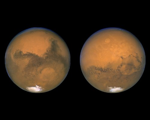 Hubble Space Telescope Photo The Two Faces Of Mars Nasa Photos 8X10