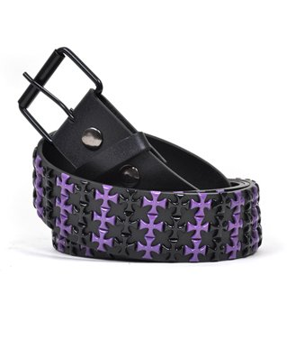 Purple & Black Crosses Women's Fashion Belt