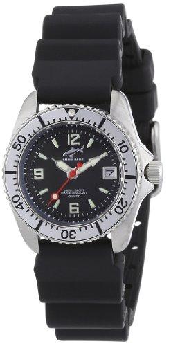Chris Benz CBL.S.KB.SI - Reloj analógico de cuarzo para mujer con correa de caucho, color negro