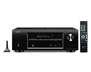Denon AVR-E300 5.1 Channel 3D Pass Through and Networking Home Theater AV Receiver with AirPlay by Denon