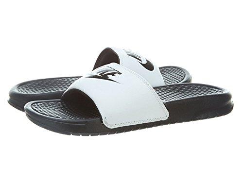 Nike Benassi Just Do It, Scarpe da Spiaggia e Piscina Uomo, Bianco (White/Black Black), 40 EU