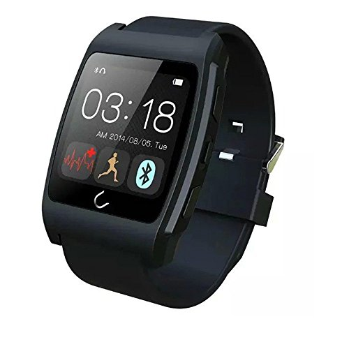 ActionFly Uwatch UX Smart Watch with Heart Rate Monitor Android Smart Watch Phone Sports Bluetooth Wristwatch With 3G magsensor gravity sensor Compatible With IOS & Android (Black)