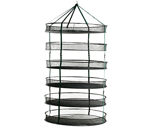 HydroFarm STACK!T 3' Drying Rack w/Clips 3 FT Mesh Hanging R