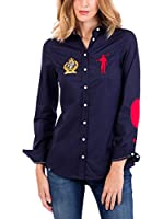 POLO CLUB CAPTAIN HORSE ACADEMY Camisa M-L/L-S Shirt Rigby Brand Shirt Sra (Azul Marino)