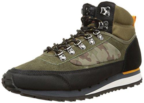 Base London - Bagel, Sneakers da uomo, nero (camo mix black/olive/tan), 46