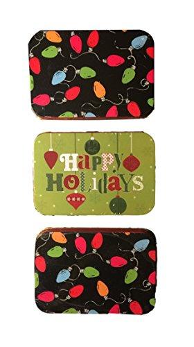Christmas gift card holders tin box pack festive lights