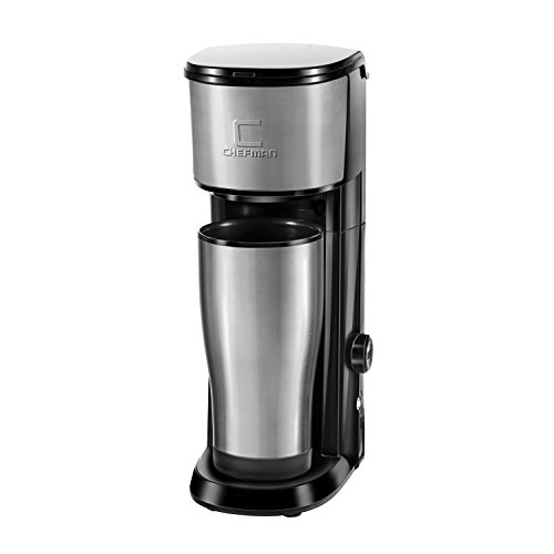 Chefman RJ14-SKG Versa Brew K-Cup & Coffee Ground Brewer, Black