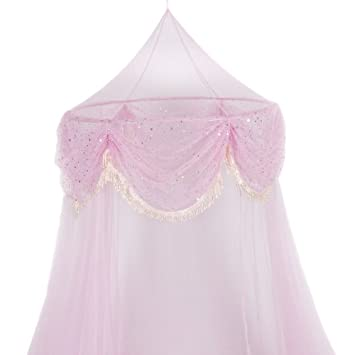 Pink Princess Bed Canopy Mosquito Net Bed Netting Reviews  Kids ...