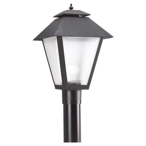 Sea Gull Lighting 82065-12 Outdoor Post Lantern, Black
