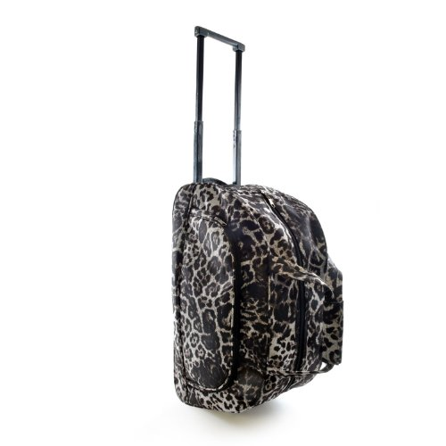 Printed Weekend Trolley Bag (2 Designs) (One Size) (Leopard) (Trolley Bag Uk compare prices)