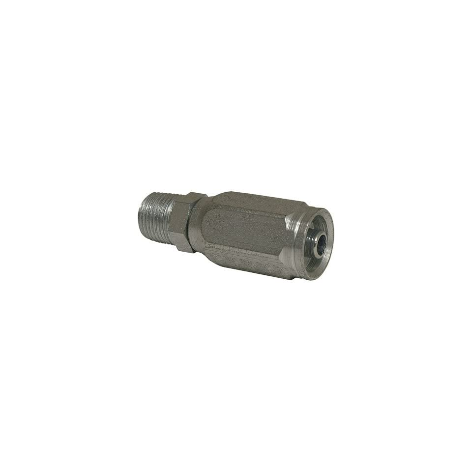 Apache Reusable Hose Coupling   1 Wire, Male Pipe, 1/4in.