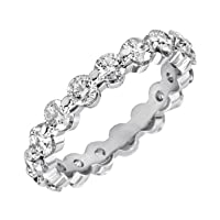 14k Gold Shared-Prong Diamond Eternity Band (2 cttw, H-I Color, SI2 Clarity)