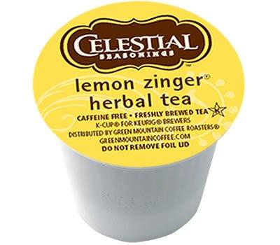 Celestial Lemon Zinger Herbal Tea 96 K-Cups