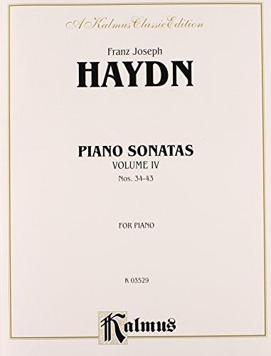 Sonatas, Vol 4: Nos. 34-43 (Kalmus Edition)