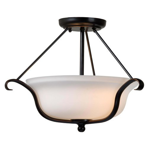 Kenroy Home 93117ORB Basket 2-Light Semi Flush Light Fixture with Oil Rubbed Bronze Finish