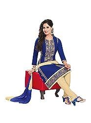 RK Fashion Womens Cotton Un-Stitched Salwar Suit Dupatta Material ( RAJGURU-PAHELI-9271-Blue-Free Size )