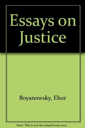 Essays on Justice