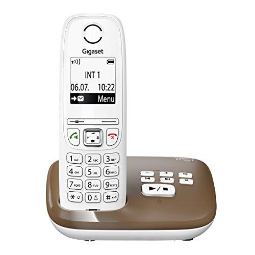 Gigaset AS405A Téléphone Fixe DECT/GAP Répondeur Chocolat