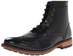 Ted Baker Men\'s Sealls 2 Boot, Black Leather, 8.5 M US