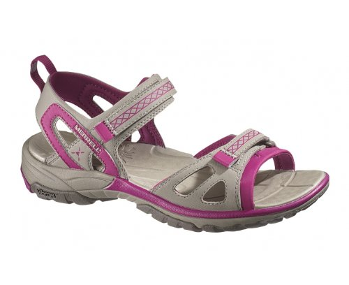MERRELL Avian Light Strap Ladies Sandals, Grey/Pink, UK8