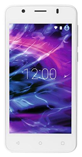 Medion E4506 11,4 cm (4,5 Zoll) Smartphone (Touchscreen-Display, 5 Megapixel Kamera, Quad-Core-Prozessor, Dual-SIM, WiFi, 8GB interner Speicher, Android Lollipop 5.1) weiß