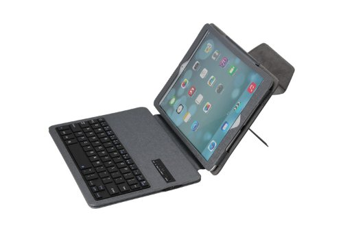Newstyle Ultra Slim Detachable Removable Wireless Bluetooth Keyboard Stand Pu Leather Folio Case Cover For Apple Ipad Air Ipad 5 - Grey Color