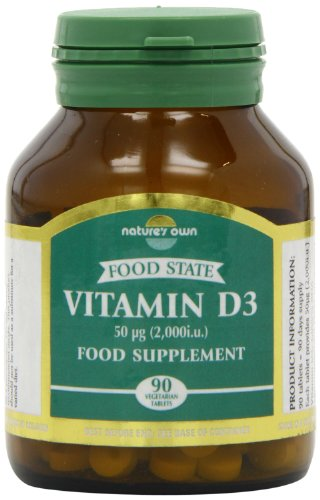 Natures Own Vitamin D3 - 90 x 2000iu Tablets