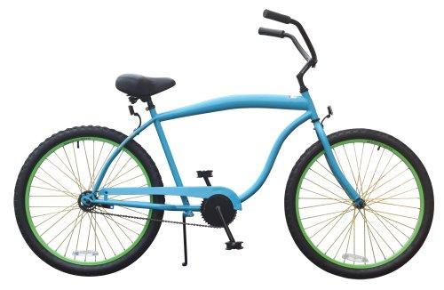 sixthreezero Men's Wow Single Speed Beach Cruiser Bicycle, Neon Blue, 26-Inch