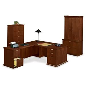 national office furniture ldesk with left