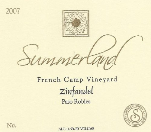 2007 Summerland Winery French Camp Zinfandel Paso Robles 750 Ml