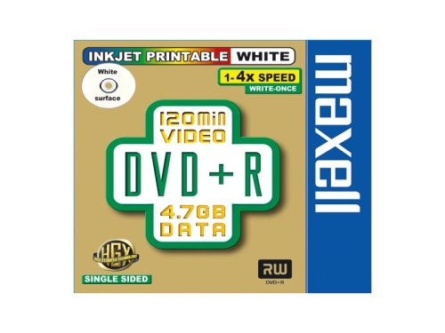 Maxell® DVD+R 4.7 1er Jevel Case MXL Logo full printable