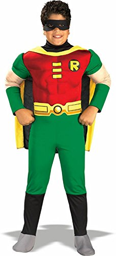 [Teen Titan Robin Costume - Toddler Costume deluxe - Medium] (Teen Titan Robin Costumes)