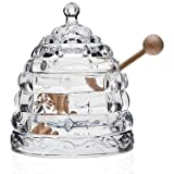 StudioSilversmiths 44153 Beehive Crystal Honey Jar