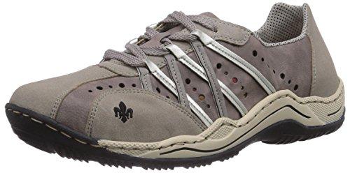 Rieker L0505, Low-Top Sneaker donna, Grigio (Grau (vapor/dust/staub/silver / 40)), 37