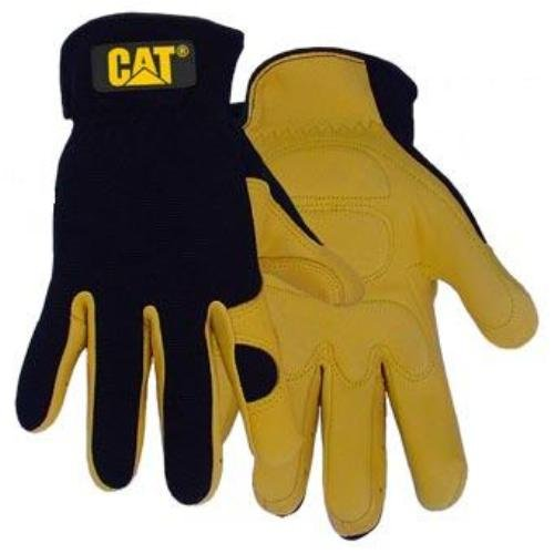 CAT Caterpillar Workwear Premium Work Safety Deerskin Gloves With Padded Palm