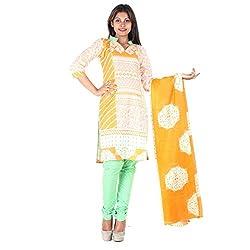 RangoliSF Woman's Cotton Unstitched Dress Material (RSFT1012 Orange)
