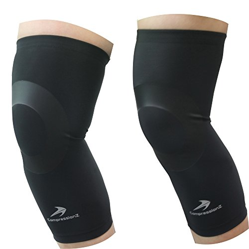 Knee Sleeves (1 Pair, Black - 2XL) Compression - Men ...