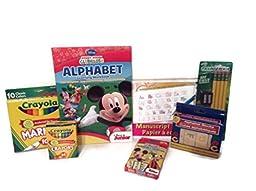 Mickey Mouse School and Crayola School Supplies Ticonderoga Gift Set