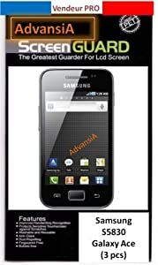 3 FILMS PROTECTION ECRAN SAMSUNG Galaxy Ace S5830 [Appareils électroniques]