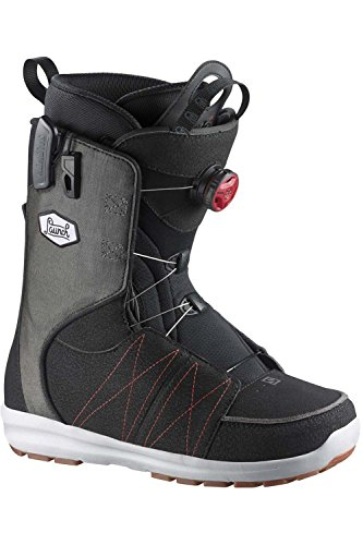 Salomon Launch Boa Str8jkt Snowboard Boots - Black/Racing Red/Black