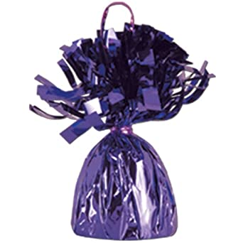 Beistle 50804-PL Metallic Wrapped Balloon Weights. Pack of 12