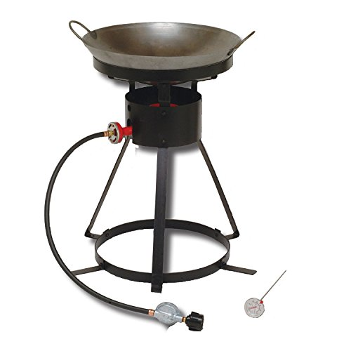 King Kooker 24WC Heavy-Duty 24-Inch Portable Propane Outdoor Cooker with 18-Inch Steel Wok (King Kooker Propane Hose compare prices)