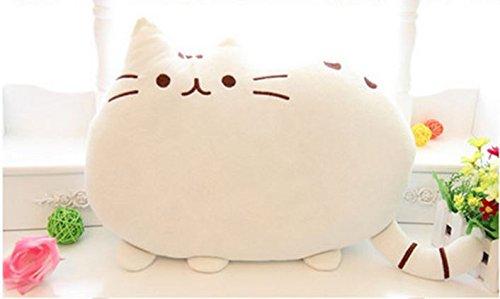 高反発 フワフワ 猫 ネコ クッション 抱き枕 オフィスに 愛車に (ホワイト)