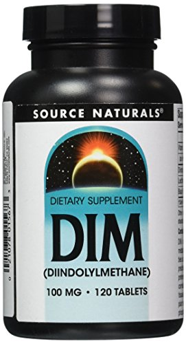 Source Naturals DIM (Diindolylmethane), 100mg, 120 Vegetarian Tablets (100mg, 120 Vegetarian Tablets)