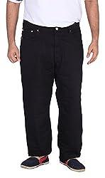 Xmex Men's Denim Jeans (Jd-1011Black-50, Black, 50)