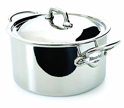 Mauviel M'Cook 5 Ply Stainless Steel 5231.19 2.7-Quart Stewpan and Lid with Cast Stainless Steel Handle