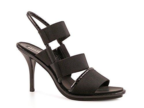 Sandali tacco alto Balenciaga in pelle e tessuto nero - Codice modello: 349315 W0WJ1 1000 - Taglia: 36 IT