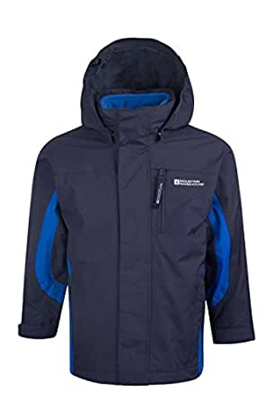 Mountain Warehouse Cannonball 3 in 1 Kids Waterproof Jacket Coat Navy 2-3 years