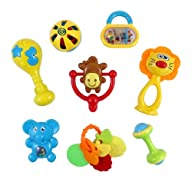 Animal Fun 8 Piece Baby Rattle and Te…